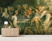 The Last Supper, c.1630-31 (oil on panel) mural wallpaper living room preview