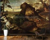 Orpheus and Eurydice (oil on canvas) mural wallpaper kitchen preview