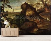 Orpheus and Eurydice (oil on canvas) mural wallpaper living room preview