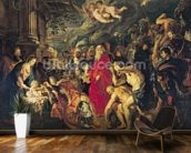 Adoration of the Magi, 1610 (oil on canvas) mural wallpaper kitchen preview
