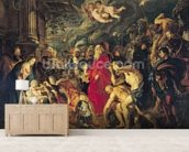 Adoration of the Magi, 1610 (oil on canvas) mural wallpaper living room preview