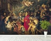 Adoration of the Magi, 1610 (oil on canvas) mural wallpaper in-room view