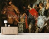 Mucius Scaevola before Lars Porsena, c.1618-20 (oil on canvas) wallpaper mural living room preview