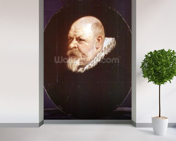 Portrait of a Man mural wallpaper room setting