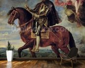 Philip II (1527-98) Crowned by Victory, 1628 (oil on canvas) wallpaper mural kitchen preview