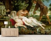 Cimon and Iphigenia, 1617 (oil on canvas) mural wallpaper living room preview