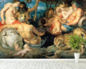 The Four Continents, 1615 wall mural in-room view