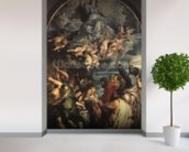 The Assumption of the Virgin Altarpiece, 1611/14 (panel) wallpaper mural in-room view