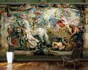 The Triumph of the Church over Fury, Hatred and Discord, before 1628 (oil on canvas) wall mural kitchen preview