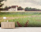 Landscape in the Ile-de-France, 1881-82 (oil on canvas) wallpaper mural living room preview