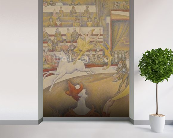 The Circus, 1891 (oil on canvas) mural wallpaper room setting