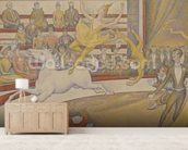 The Circus, 1891 (oil on canvas) mural wallpaper living room preview