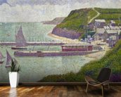 Harbour at Port-en-Bessin at High Tide, 1888 (oil on canvas) wall mural kitchen preview