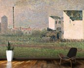 Suburb, c.1882 (oil on canvas) mural wallpaper kitchen preview