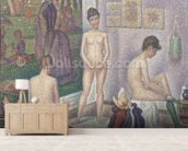The Models, 1888 (oil on canvas) wall mural living room preview