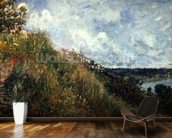 The Seine, view of the slopes of By, 1881 (oil on canvas) mural wallpaper kitchen preview