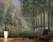 The Rest by the Stream. Edge of the Wood, 1872 (oil on canvas) wall mural kitchen preview