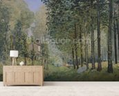 The Rest by the Stream. Edge of the Wood, 1872 (oil on canvas) wall mural living room preview