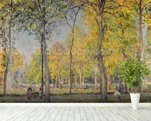 The Bois de Boulogne (oil on canvas) wall mural room setting