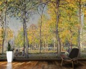 The Bois de Boulogne (oil on canvas) wall mural kitchen preview
