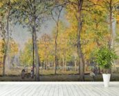 The Bois de Boulogne (oil on canvas) wall mural in-room view