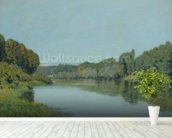 The Seine at Bougival, 1873 (oil on canvas) wallpaper mural in-room view