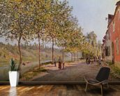 June Morning in Saint-Mammes, 1884 (oil on canvas) mural wallpaper kitchen preview