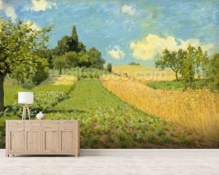 The Cornfield (near Argenteuil) (oil on canvas) wallpaper mural
