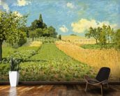 The Cornfield (near Argenteuil) (oil on canvas) wallpaper mural kitchen preview