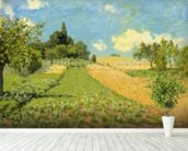 The Cornfield (near Argenteuil) (oil on canvas) wallpaper mural in-room view