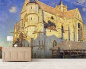The Church at Moret, Frosty Weather, 1893 (oil on canvas) mural wallpaper living room preview