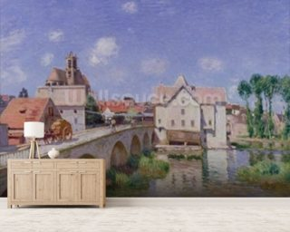 The Bridge at Moret, 1893 (oil on canvas) mural wallpaper