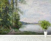 The Riverside Road from Veneux to Thomery, 1880 wall mural in-room view