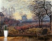 Landscape near Louveciennes, 1873 wallpaper mural kitchen preview
