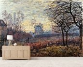 Landscape near Louveciennes, 1873 wallpaper mural living room preview