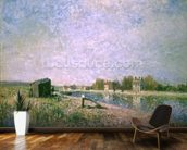 The Loing at Saint-Mammes, 1884 wall mural kitchen preview