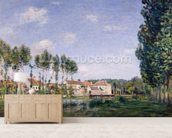 Banks of the Loing, Moret, 1892 (oil on canvas) wallpaper mural living room preview