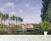 Banks of the Loing, Moret, 1892 (oil on canvas) wallpaper mural in-room view