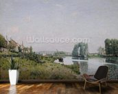 Ile Saint-Denis, 1872 (oil on canvas) wall mural kitchen preview