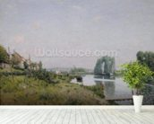 Ile Saint-Denis, 1872 (oil on canvas) wall mural in-room view