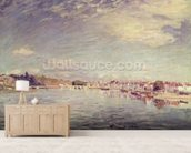 Saint-Mammes, 1885 (oil on canvas) wallpaper mural living room preview
