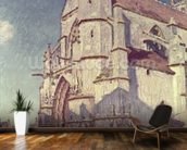 The Church at Moret, 1894 (oil on canvas) mural wallpaper kitchen preview
