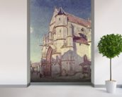 The Church at Moret, 1894 (oil on canvas) mural wallpaper in-room view