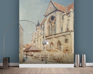 The Church at Moret (oil on canvas) wall mural
