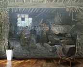 The Forge at Marly-le-Roi, Yvelines, 1875 (oil on canvas) mural wallpaper kitchen preview