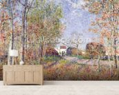 A Corner of the Woods at Sablons, 1883 (oil on canvas) wall mural living room preview