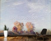 Uphill Road in Sunshine, 1891 (oil on canvas) mural wallpaper kitchen preview