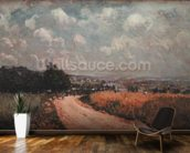 Turning Road or, View of the Seine, 1875 (oil on canvas) wallpaper mural kitchen preview