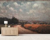 Turning Road or, View of the Seine, 1875 (oil on canvas) wallpaper mural living room preview