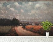 Turning Road or, View of the Seine, 1875 (oil on canvas) wallpaper mural in-room view